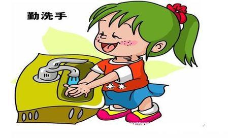 幼儿洗手卡通图片